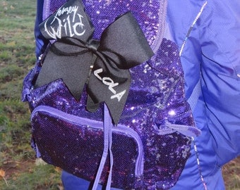 Cheer Backpack with Customized Bow