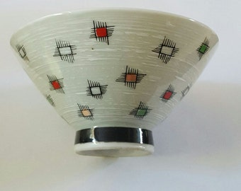 Vintage Mid Century Design Japanese Rice Bowl