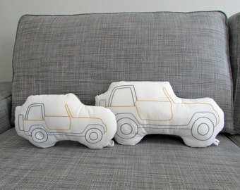 Jeep Shaped Pillow - Plush - Soft Toy - SMALL