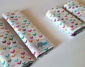 You Pick the FABRIC and SIZE | Car Seat Strap Covers | Shoulder Strap | Hearts O Plenty