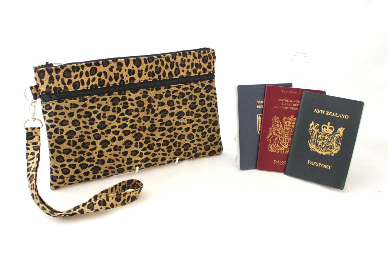 Family passport holder travel document organizer passport for Family travel document organizer