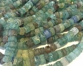 Ancient roman glass beads LARGER rustic heishi spacers