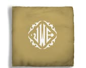 Personalized Throw Pillow/ insert available -Diamond Classic Monogram - Custom with Initials - two sizes available
