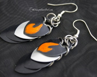 Fire Scalemaille Earrings