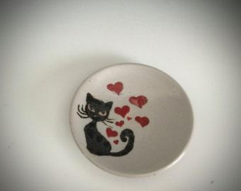 Valentine Kitty Plates