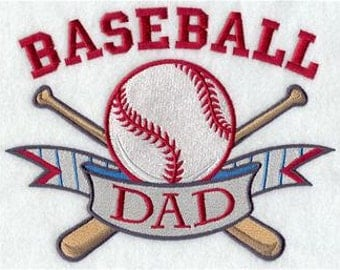 BASEBALL  DAD EMBROIDERY on Men's Tee or Sweat by Rosemary