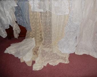 Vintage Lace Curtains 1 Big Assortment Lot