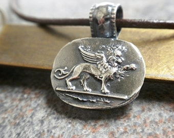 Winged Lion of Venice Pendant Necklace
