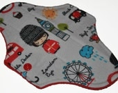 Liner Core- London Streets Flannel Reusable Cloth Mini Pad- 7.5 Inches (19 cm)
