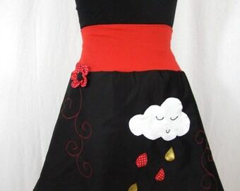 cloud and rain skirt embossed flower