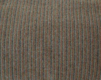 Fall Stripes Wool Fabric -Rust Orange-Brown Stripes Felted Wool Fabric- 100% Wool Perfect for Rug Hooking, Quilting, Wool Applique