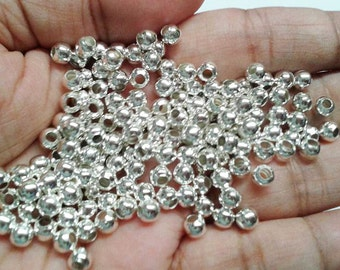 100 5mm Silver Round Spacer Beads, 5mm Round Beads, Spacer Beads, 5mm Silver Beads, Beads