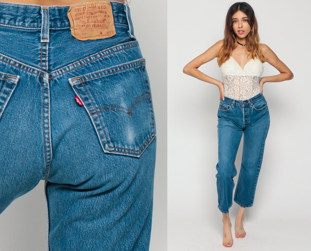 levis jeans ankle pants mom jeans high waisted 80s denim leg. Black Bedroom Furniture Sets. Home Design Ideas