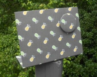 Hostess Gift, Pineapple Decor, Magnet Message Board, Shower Hostess Gift, Mojito Pineapples Mist Fabric, Kitchen Organizer, Wedding Shower