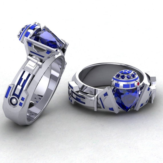 Gents R2 Claddagh Ring Geek Jewelry R2d2 Ring By