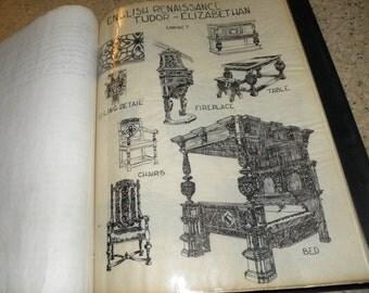1962 Hand Drawn Interior Design Notebook