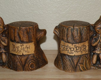 Large Elf Salt and Pepper Shakers by Treasure Craft