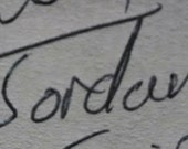Custom handwriting pendant