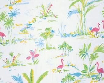 SALE CHINOISERIE Chic-PARADISE- Dena Designs  PWDF194 Aqua 1 Yard Cut