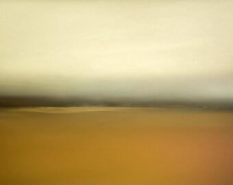 Orange landscape, oversized canvas art, orange, yellow, black, cream, ethereal photo, zen photography, surreal photo, abstract giclee