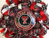 Reserved for Shannon Harley - WREATH - Made to Order - Texas Tech University