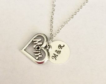 Personalized Necklace- mom necklace , gift for mom necklace