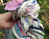 Art Yarn BIG 6.5 oz 75 yd skein. Handspun, handmade. Super soft, think and thin, lofty and squishy, multicolored, ooak