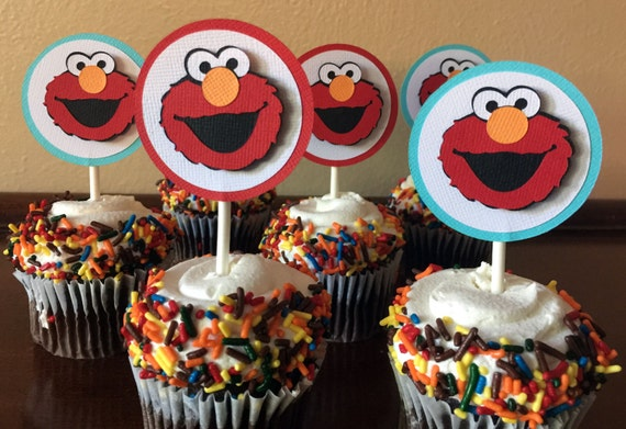 Elmo Party Cupcake Toppers Elmo Birthday Party Elmo 1st