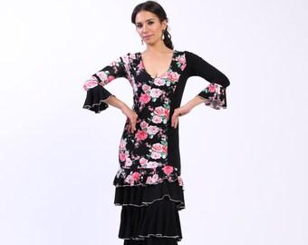 NEW *** FLOWERS flamenco dress, Flamencita design , spanish dress.