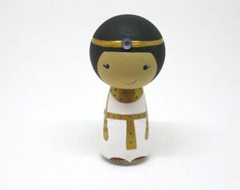Kokeshi Egyptian Peg Doll collectable - READY TO SHIP