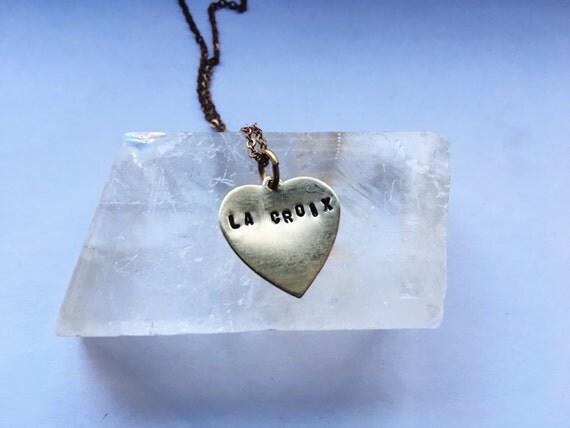 La croix brass charm necklace