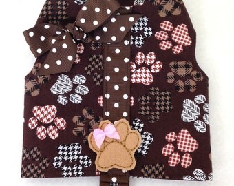 Dog Gone Cute Dog Harness Vest Male or Female Size XXXS through XXS by Doogie Couture