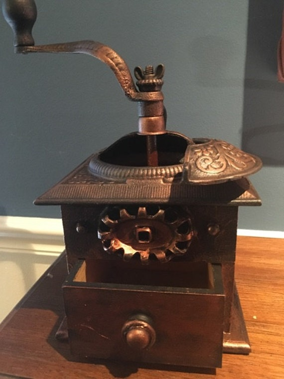 Vintage Upcycled Custom Steampunk Coffee Grinder On Sale
