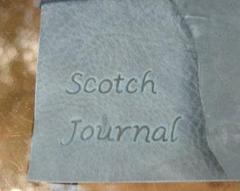 Leather Scotch Tasting Journal Travel Size
