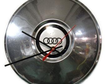 1968 - 1976 Audi 100 Hubcap Clock - 1969 1970 1971 1972 1973 1974 1975 - Car Hub Cap - Automotive Gift