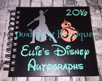 Star Wars Rey BB8 Disney Autograph Book