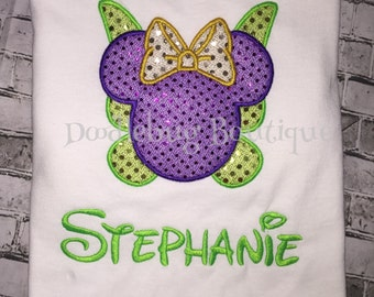 Sparkle Tinkerbell shirt with name