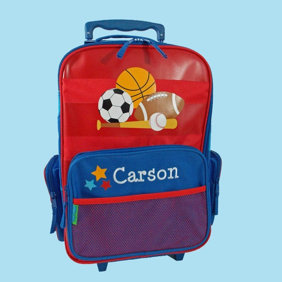 Personalized Stephen Joseph Rolling Luggage SPORTS Themed for Children