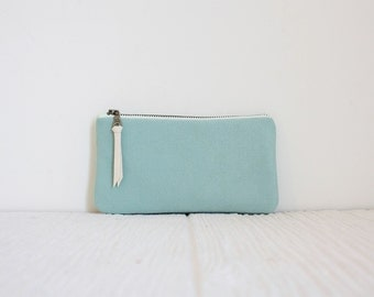 Iphone case, phone pouch, Mint gadget case