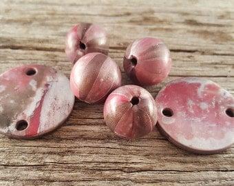Pink Himalaya Polymer Clay Beads