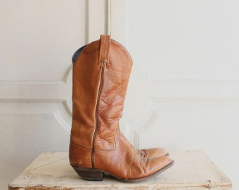 vintage Tony Lama distressed leather boots distressed sz 6