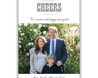 Cheers - Custom Holiday Photo Card