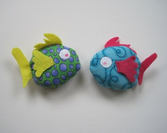 2 Cat Toy - Filled to the Gills with Catnip - Fish Cat Toy Filled with Organic Catnip