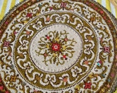 mimosa needlepoint upholstery style material round doily or multi purpose sewing project