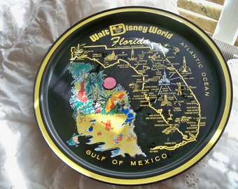 vintage Walt Disney florida  round  tray