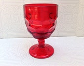 Viking Georgian Ruby Red Water Goblet