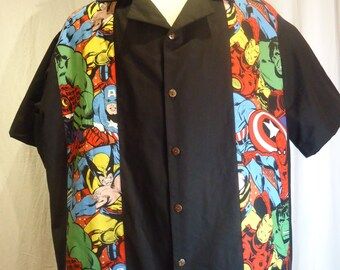 Marvel Superhero Shirt size 3XL Hulk, Captain America, Spiderman