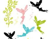 ON SALE fairy clip art, Silhouette clip art, fairy silhouette , INSTANT Download