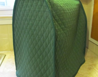 Hunter Green Quilted Mixer Cover Ready to Ship