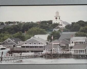 Vintage framed photograph of Nantucket